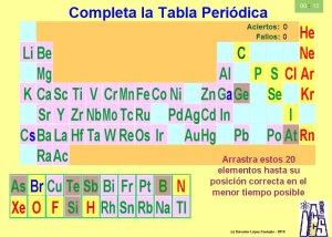 Elementos qumicostabla peridica actividades interactivas completa la tabla peridica puzzle urtaz Choice Image